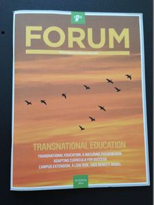 EAIE Forum 2014 Summer - TNE cover